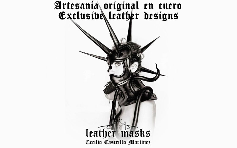 Artesan�a original en cuero. Leather mask. Cecilio Castrillo Martinez