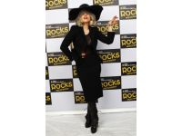 Lady Gaga with Leather Hat by Leatherdesigns in collaboration with V.O.C